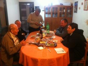 Miguel, Padre Jose Luis, Padre Lalo, Carmelo Fazio, Alejandro Chiappa.